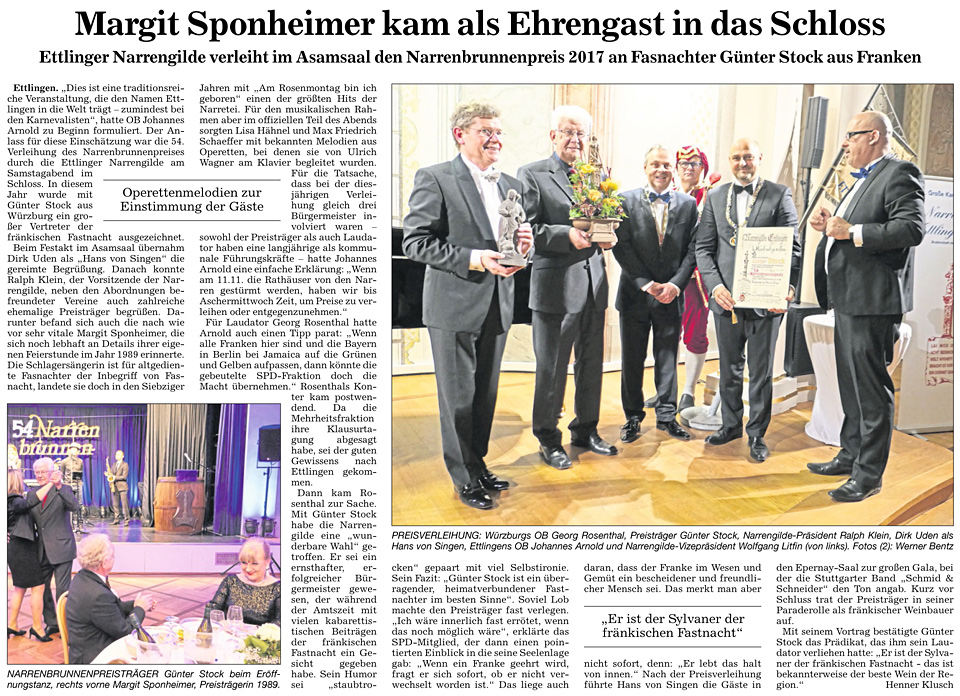 Narrenbrunnenpreis 2016